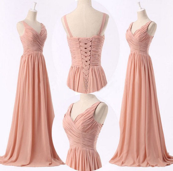 Cheap Bridesmaid Dresses,Peach Bridesmaid Dresses,Simple Bridesmaid ...